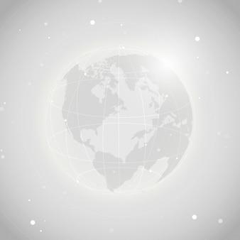 Vector de ilustración de fondo gris de conexión mundial