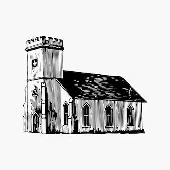Vector de ilustración de la iglesia de san marcos