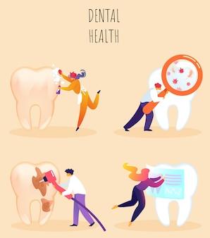 Vector ilustración inscripción salud dental.