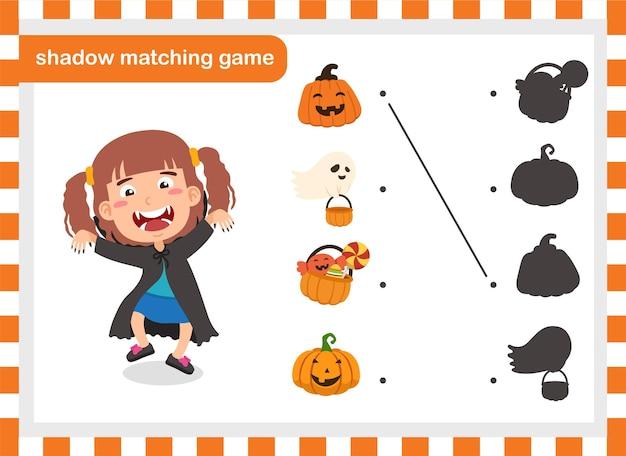 Vector de ilustración de juego de combinación de sombras