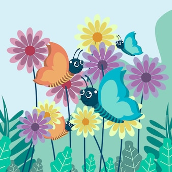 Vector ilustración de una mariposa