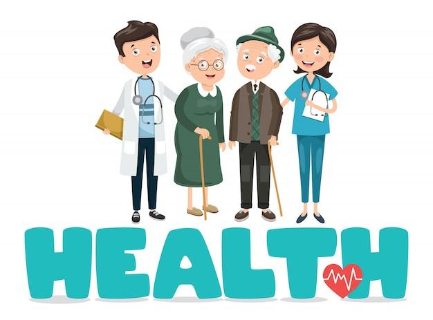 Vector ilustración médica y salud