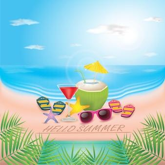 Vector ilustración tipográfica de vacaciones de verano.