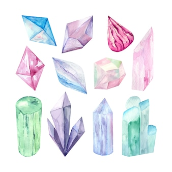 Vector de la imagen de un conjunto de cristales.