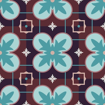 Vector inconsútil colorido árabe tradicional patrón geométrico.