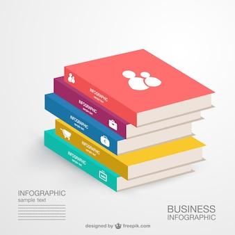 Vector de infografía con libros
