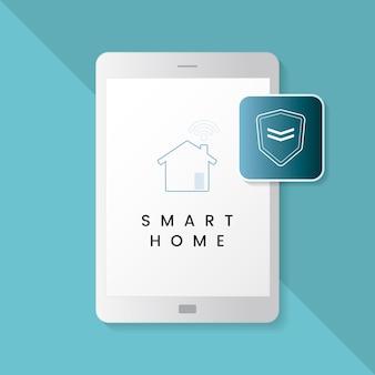 Vector de infografía de protección de casa inteligente