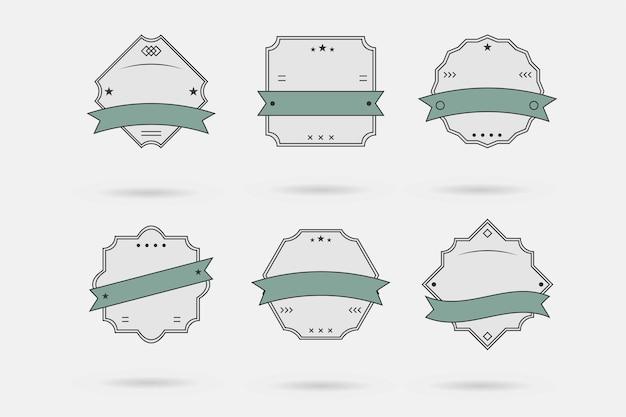 Vector insignia, etiquetas y cintas