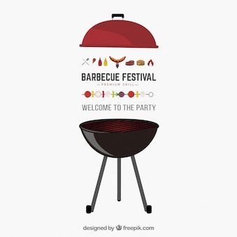 Vector invitación a barbacoa