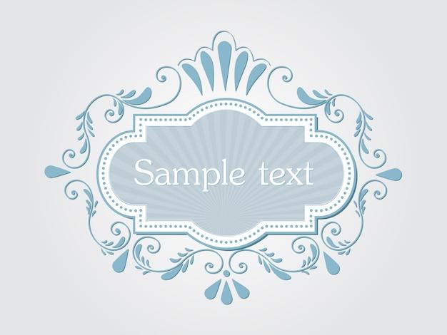 Vector de invitación, tarjetas o tarjeta de boda con elegantes elementos florales. diseño de estilo arabesco. ornamentos abstractos florales elegantes. elemento de diseño. marco de la vendimia del vector