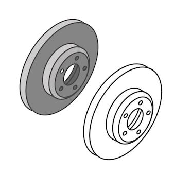 Vector isométrico de los iconos de piezas de coche