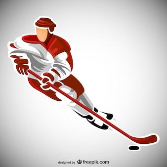 Vector jugador de hockey
