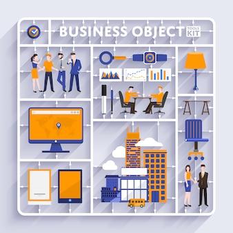 Vector de kit de herramientas de negocios