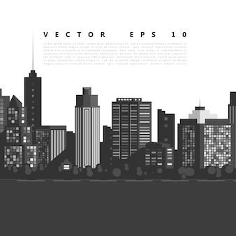 Vector la ciudad moderna.
