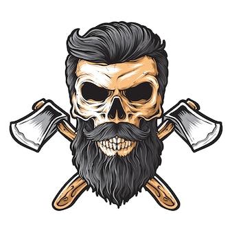 Vector de leñador del cráneo