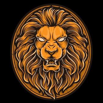 Vector de león de oro