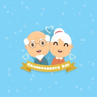Vector libre de abuelos día
