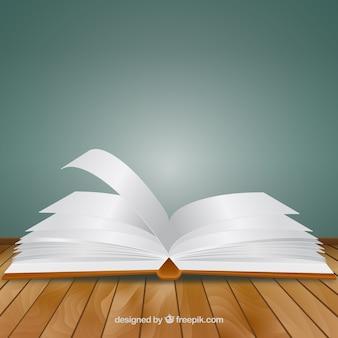 Vector de libro abierto