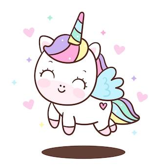 Vector lindo ángel unicornio