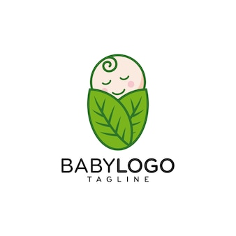 Vector lindo del diseño del logotipo del bebé