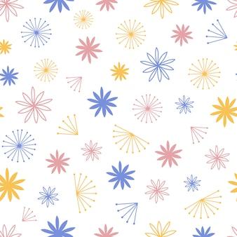 Vector de línea de flor escandinavo simple