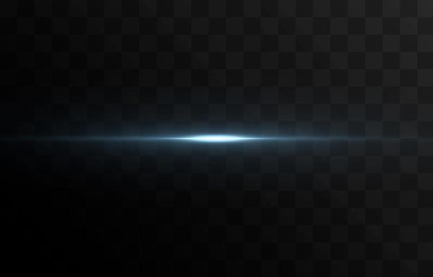 Vector línea de luz brillante resplandor mágico luz azul línea de neón línea brillante png