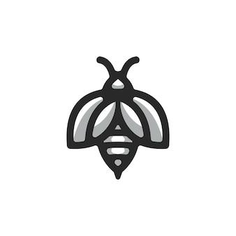 Vector logo de abeja