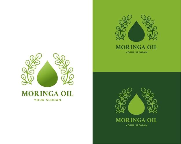 Vector logo de aceite de moringa