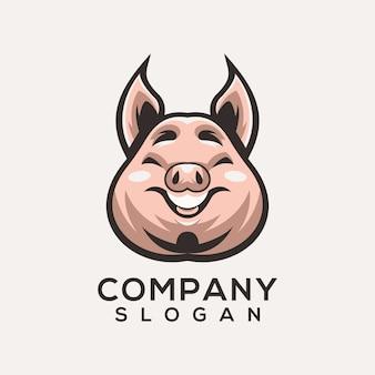 Vector logo de cerdo
