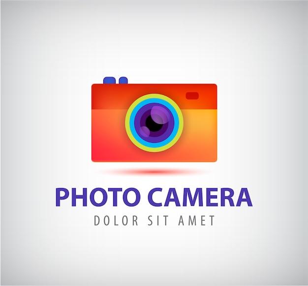 Vector logo colorido cámara de fotos