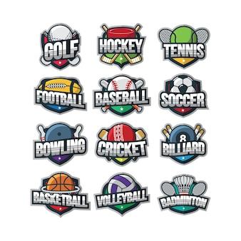 Vector logo deporte ilustración