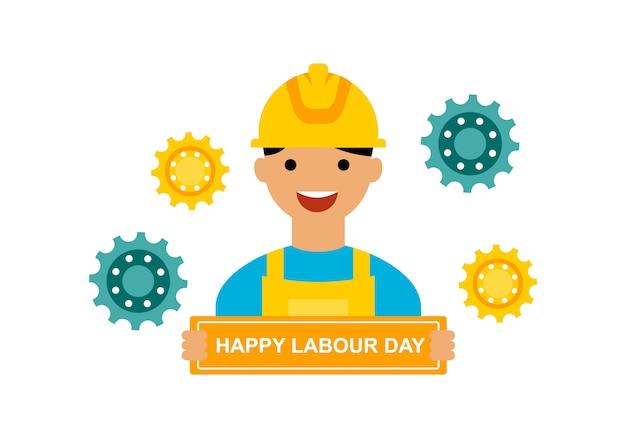 Vector logo del dia internacional del trabajo