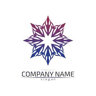 Vector logo de flor de loto para bienestar, spa y yoga.
