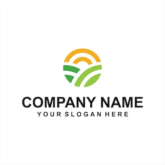 Vector logo de granjas verdes