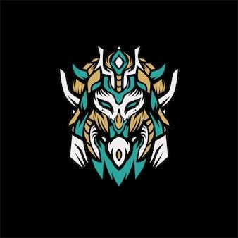 Vector logo de león vikingo