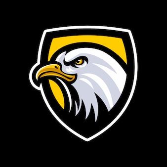 Vector de logo de mascota cabeza de águila