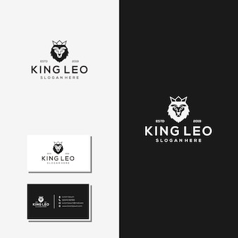 Vector logo rey leo resumen
