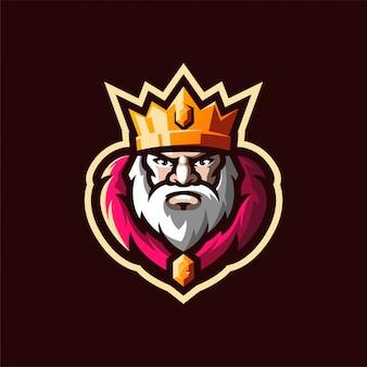 Vector logo de rey