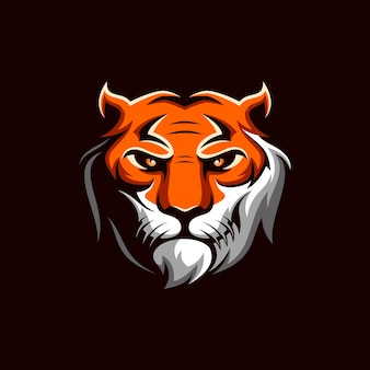 Vector logo de tigre