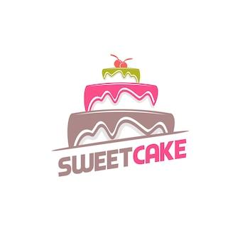 Vector logo de torta