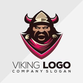 Vector logo vikingo, plantilla