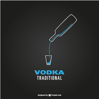 Vector logo de vodka