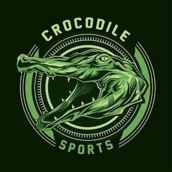 Vector de logotipo de cabeza de cocodrilo