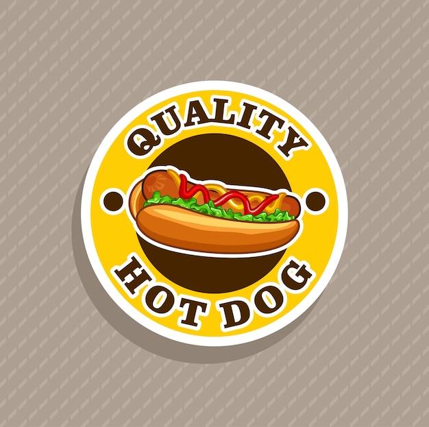 Vector de logotipo de calidad de perro caliente