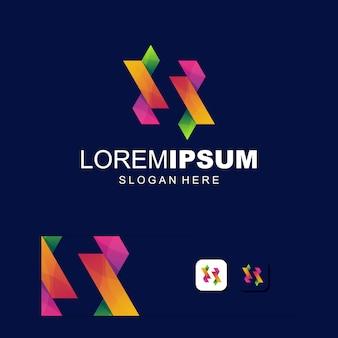 Vector de logotipo colorido abstracto