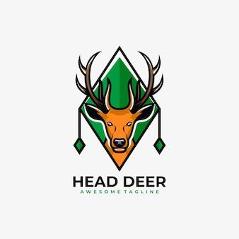 Vector de logotipo de dibujos animados de mascota de ciervo