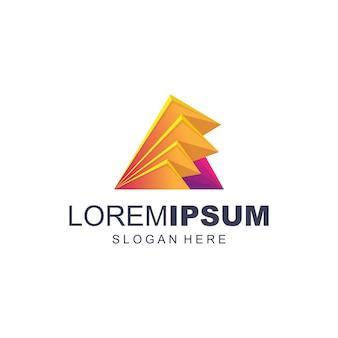 Vector de logotipo digital abstracto colorido