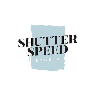 Vector de logotipo de estudio de velocidad de obturación