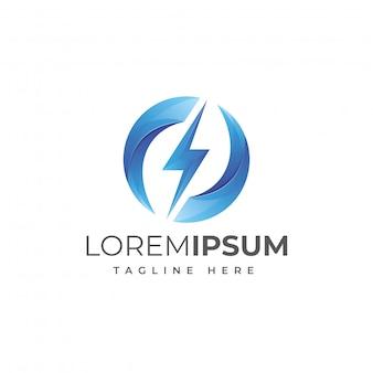 Vector de logotipo de lightning energy circle