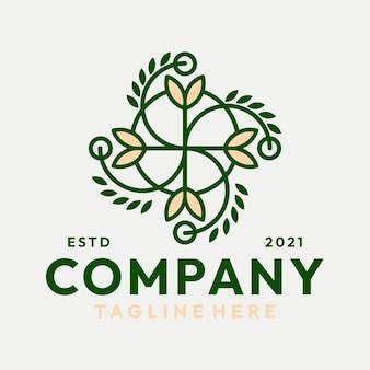 Vector de logotipo de naturaleza de alimentos hipster
